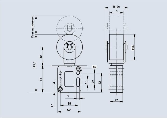 Схема Spann-Box для ремня РАЗМЕР 0