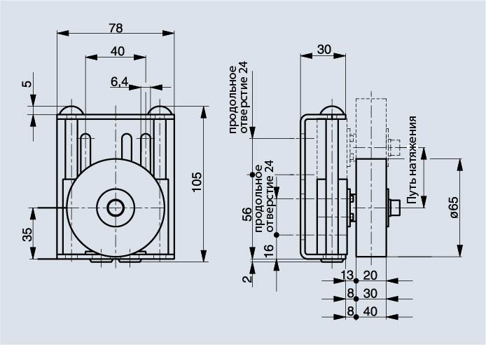 Схема натяжителя ремня Spann-Boy TS