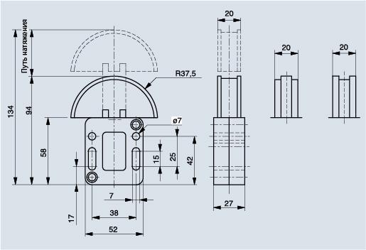 Схема натяжителя цепи Spann-Box РАЗМЕР 0 с полукруглым профилем