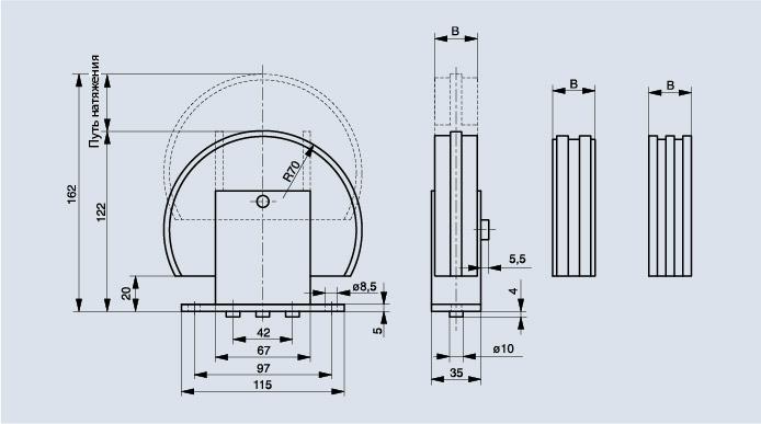 Схема натяжителя цепи Spann-Box РАЗМЕР 1 с обводным профилем