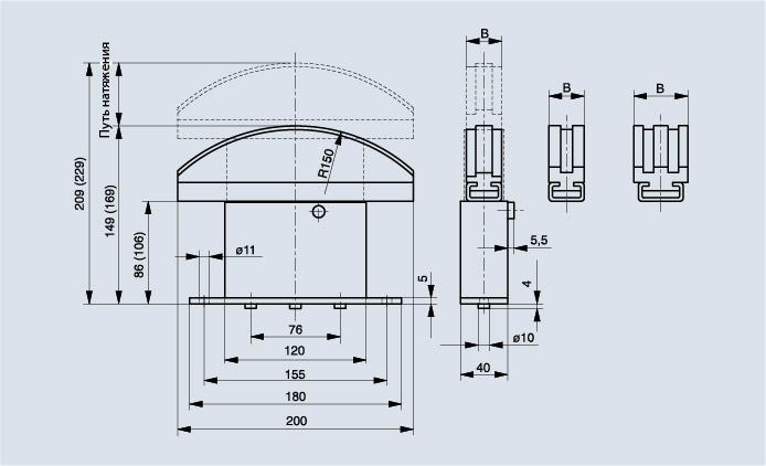 Схема натяжителя цепи Spann-Box РАЗМЕР 2 с изогнутым профилем