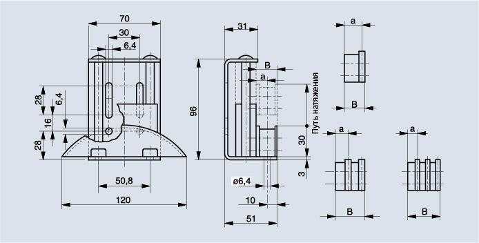 Схема натяжителя цепи Spann-Boy с изогнутым профилем