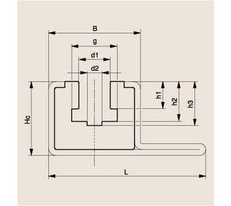 Направляющая роликовой цепи Тип CKG 15 V, Направляющая CKG 15 V