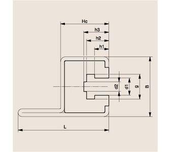 Направляющая роликовой цепи Тип CKG 14 H, Направляющая CKG 14 H