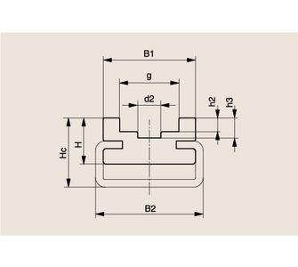 Направляющая роликовой цепи Тип СU, Направляющая СU
