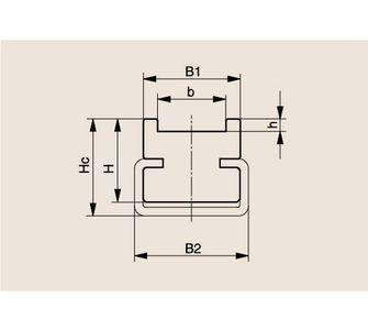 Направляющая роликовой цепи Тип TS, Направляющая TS