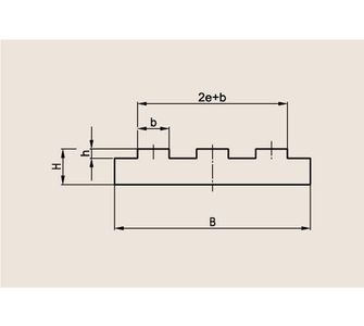 Направляющая трехрядной роликовой цепи Тип T-Triplex, Направляющая T-Triplex