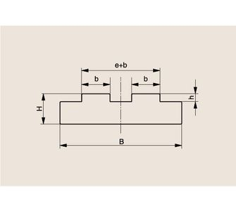Направляющая двухрядной роликовой цепи Тип T-Duplex, Направляющая T-Duplex