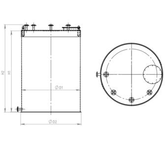 Ёмкость полипропиленовая | плоское дно, плоская крыша, плотность среды до 1000 кг/м3, объём 4