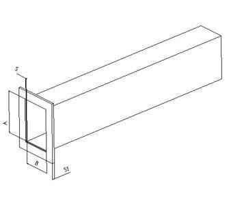 Воздуховод прямоугольный полипропиленовый | Фланец с одной стороны,  39.4