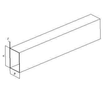 Воздуховод прямоугольный полипропиленовый | Без соединения,  38.2