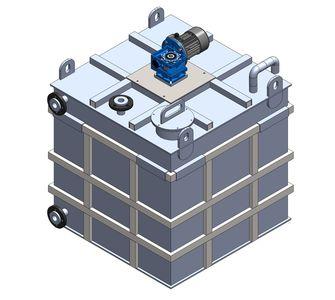 Реактор прямоугольный с мешалкой | плотность среды до 1300 кг/м3, объём 1