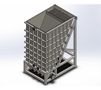Тонкослойный отстойник (сгуститель пластинчатый) полипропиленовый  | Приварные модули,  1700