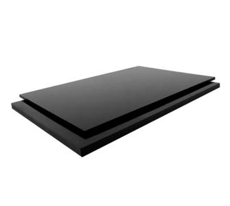 Листы полиэтилена PE 100, 3000 х 1500 mm. чёрный,  3