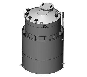 Ёмкость из ПВХ с двумя стенками | плотность среды до 1200 кг/м3, объём 4,5