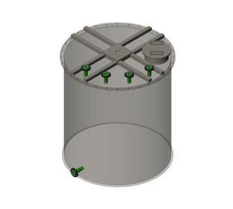 Реактор полипропиленовый   плоское дно, плоская крыша, плотность среды до 1300 кг/м3, объём 1