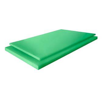 Листы PE 1000 green 2005 х 1020 mm. Сверхвысокомолекулярный полиэтилен,  10