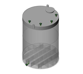 Ёмкость полипропиленовая | наклонное дно, плоская крыша, плотность среды до 1200 кг/м3, объём 10