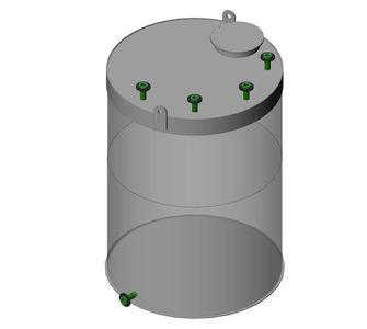 Ёмкость полипропиленовая | плоское дно, плоская крыша, плотность среды до 1200 кг/м3, объём 20