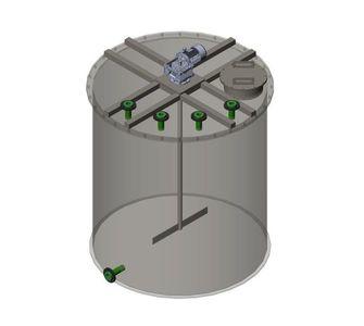 Реактор с мешалкой | плоское дно, плоская крыша, плотность среды до 1300 кг/м3, объём 5
