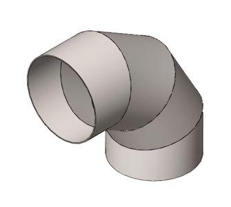 Отвод 90 круглый полипропиленовый | Без соединения,  47.9
