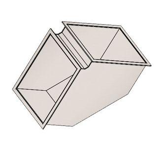 Отвод 90 прямоугольный полипропиленовый | Фланцевое соединение,  94.9