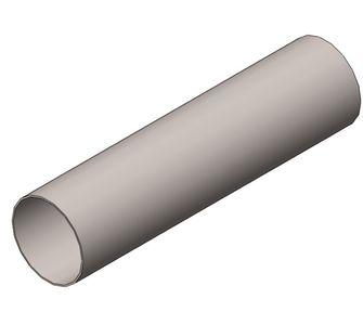 Воздуховод круглый полипропиленовый | Без соединения,  3.8