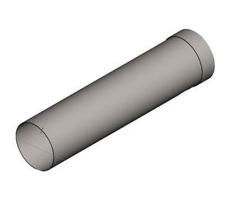 Воздуховод круглый полипропиленовый | Муфтовое соединение,  49