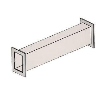 Воздуховод прямоугольный полипропиленовый | Фланец с двух сторон,  60.7